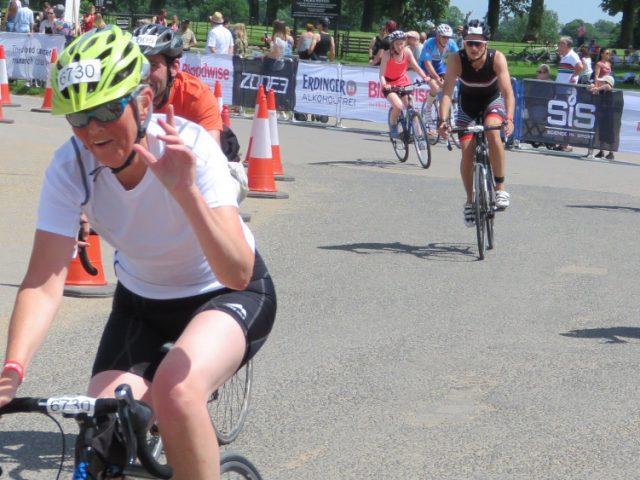 Jackie completes Blenheim Triathlon
